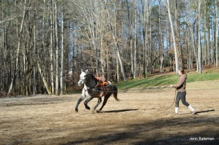 Um, cantering. Something I couldn't ever get him to do!